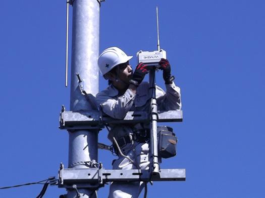 基地局無線装置点検作業